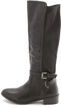 Rampage Women's Ilite Almond Toe Knee High Riding Boots