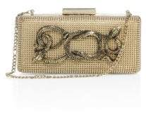Whiting & Davis Serpents Goldtone Convertible Minaudiere