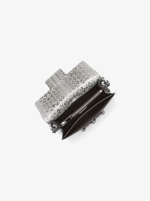 Michael Kors Cate Medium Snakeskin Shoulder Bag