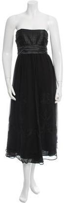La Perla Silk Lace-Trimmed Dress w/ Tags $405 thestylecure.com