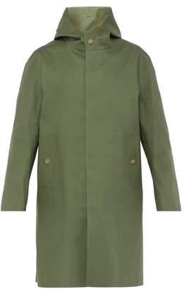 MACKINTOSH Single Breasted Bonded Cotton Overcoat - Mens - Green