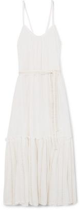 Lemlem Kelali Belted Ruffled Cotton-gauze Maxi Dress