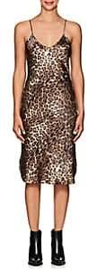 Nili Lotan Women's Leopard-Print Silk Slipdress - Leopard Print