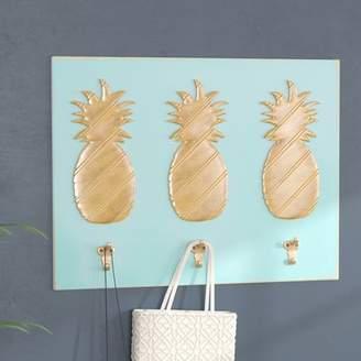 Bayou Breeze Coastal Pineapple Hooks Wall Dcor