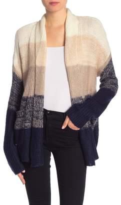 Olivia Sky Wide Stripe Colorblock Knit Cardigan