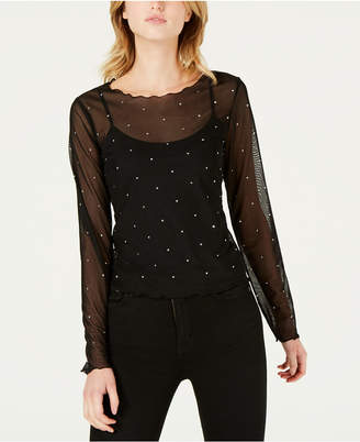 Bar III Studded Illusion Top