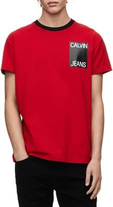 Calvin Klein Jeans Stacked Logo Ringer T-Shirt