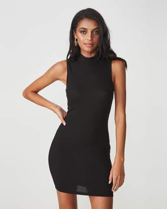 Supre Layla Rib High Neck Midi Dress