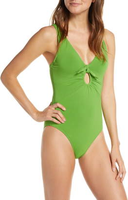 Robin Piccone Ava Underwire One-Piece Plunge Swimsuit