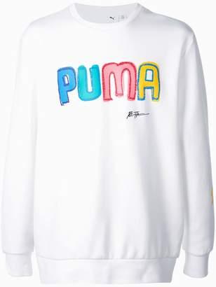 Puma logo print sweatshirt