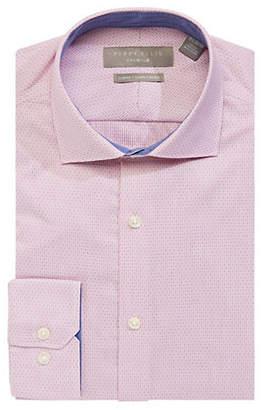 Perry Ellis Slim Fit Stretch Micro Stripe Dress Shirt
