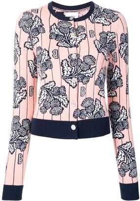Barrie cashmere intarsia cardigan