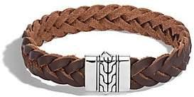 John Hardy Men's Classic Chain Silver & Leather Cord Bracelet