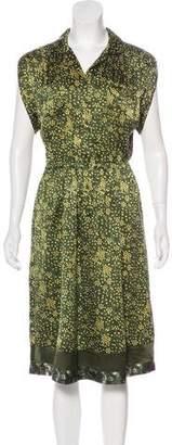 Philosophy di Alberta Ferretti Silk Printed Midi Dress