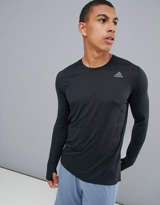 adidas supernova long sleeved top in black cz8717