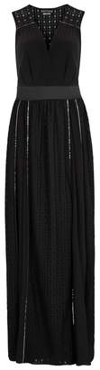 Moschino Black Chain-embellished Lace Gown