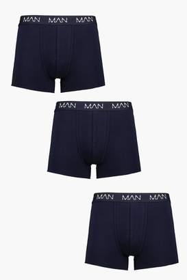 boohoo 3 Pack Navy Man Dash Boxers
