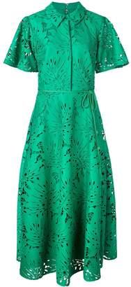 Badgley Mischka palm leaf lace dress