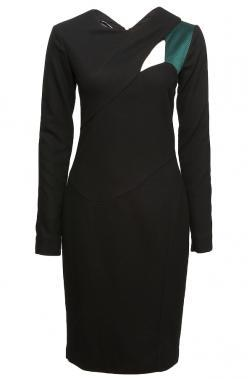 Narciso Rodriguez Long Sleeve Cut-Out Dress