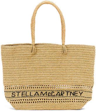 Stella McCartney Small Monogram Tote in Ecru | FWRD