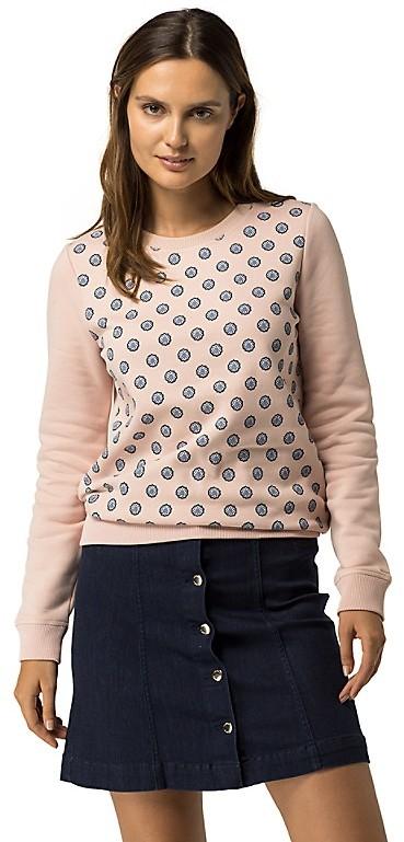Tommy HilfigerFoulard Print Crewneck Sweater
