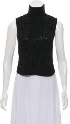 Autumn Cashmere Sleeveless Knit Turtleneck Top