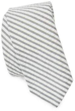 Thom Browne Striped Cotton Seersucker Tie