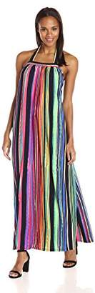 Maggy London Women's Painted Stripe Maxi, 6