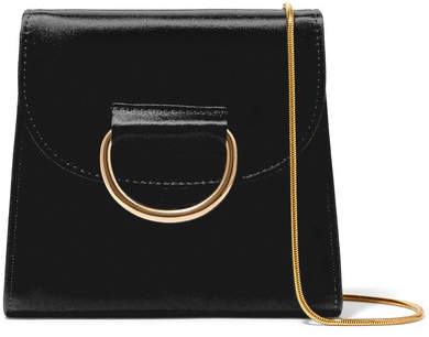 Little Liffner - D Tiny Box Satin Shoulder Bag - Black