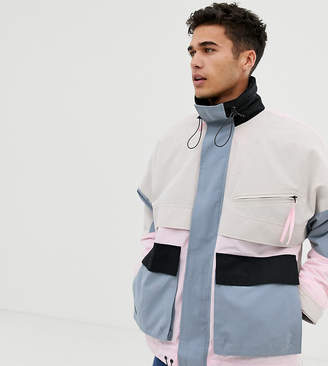 Noak wadded multi-pocket jacket in pastel color
