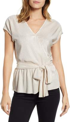 Gibson x Glam Squad Plisse Faux Wrap Top