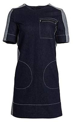 Marni Women's Denim Seam Pocket Shift Dress