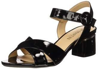 JB Martin Women's Mabel Ankle Strap Sandals Black (Veau Vernis Noir) 6.5 UK