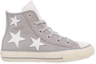Converse Leather & Suede Sneakers W/ Star Patches