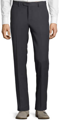 Tailorbyrd Men's Cavalry Stretch Straight-Leg Pants, Charcoal
