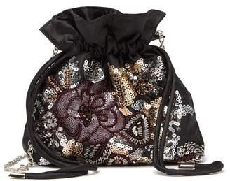 Jessica McClintock Victoria Beaded Pouch Crossbody Bag