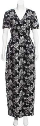 Prabal Gurung Brocade Floral Dress