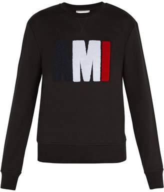 Ami Logo-appliqué cotton sweatshirt