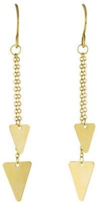 14K Triangle Drop Earrings