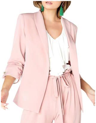Girls On Film Ruched Sleeved Detail Tailored Blazer Jacket
