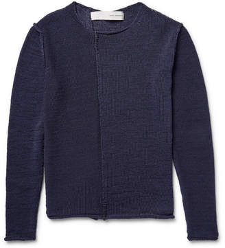 Isabel Benenato Open-Knit Cotton Sweater