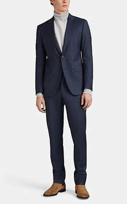 Lanvin Men's Attitude Checked Wool Two-Button Suit - Blue