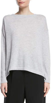 Vince Cinched-Back Cashmere Pullover Sweater