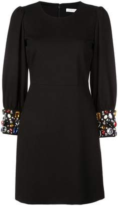 Veronica Beard embellished cuffs dress