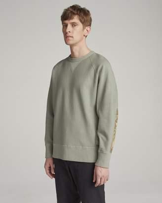 Rag & Bone Elbow patch racer sweatshirt