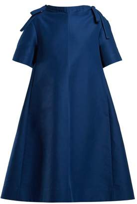 Marni Necktie Embellished Midi Dress - Womens - Blue