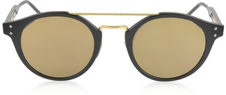 Bottega Veneta BV0078S Round Acetate and Metal Frame Unisex Sunglasses