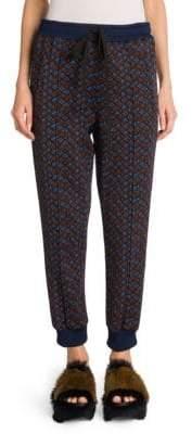 Marni Printed Compact Jersey Jogging Pants