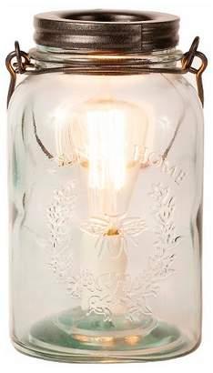 ADOR Glass Mason Jar Fragrance Warmer Clear/Copper