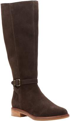 Clarks Artisan Suede Knee-High Boots - Clarkdale Clad